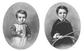 Gustave Caillebotte as a child. (L) 1849, (R) 1853.
